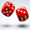 Dice Rolling Dice Red