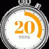 Clock 20mins