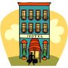 Hotel Building Cartoon