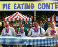 CarMax pie eating contest - after - smaller