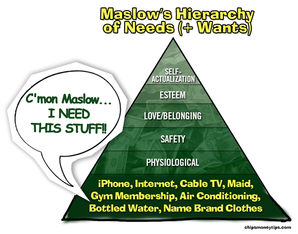 Maslow Needs + Wants 600