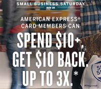 Amex - SmalBizSat3x$10 - 2014