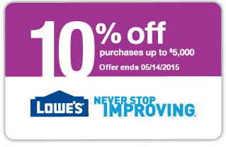 Lowes 10 percent off